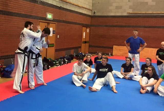 The Smullen brothers giving a self defense seminar