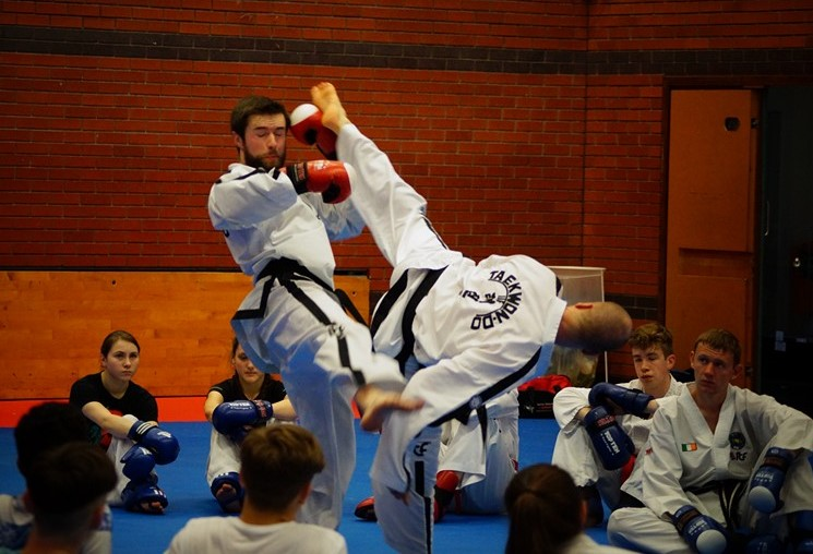 Black Belts practising counter attacks