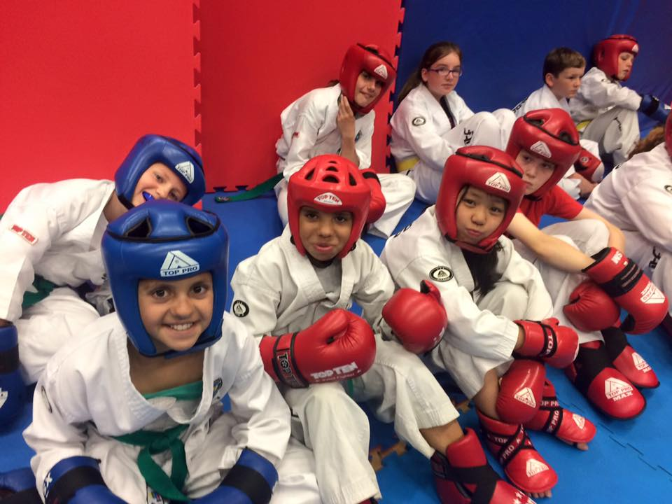 Children enjoying sparring in the safe hand of the I.T.A. instructors
