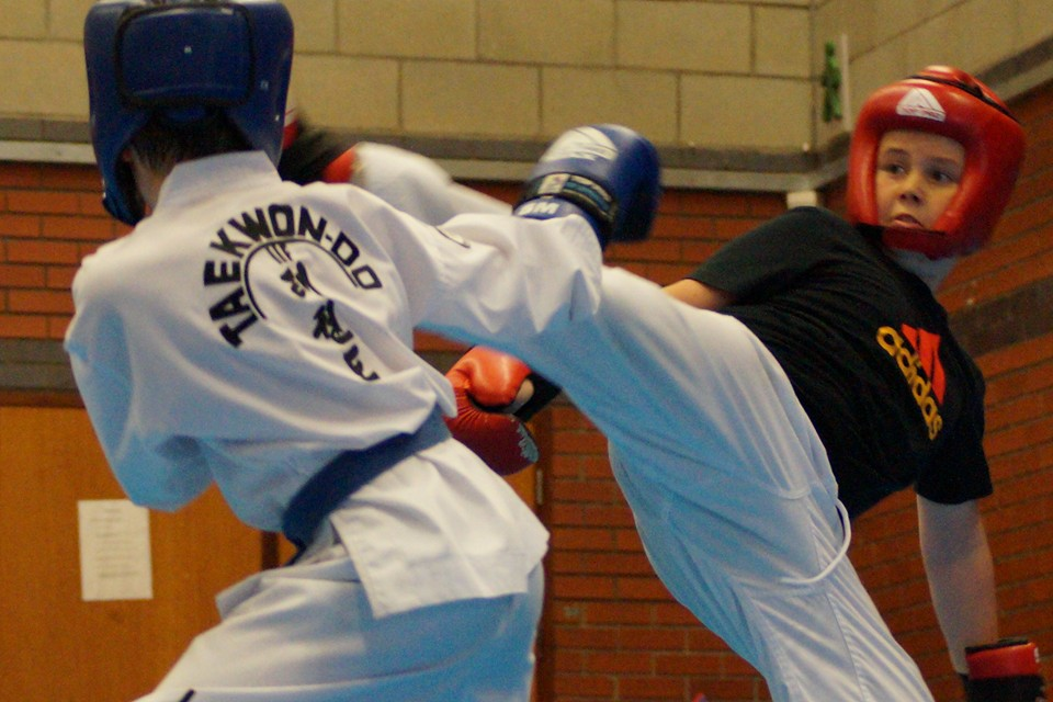 Intense Junior sparring
